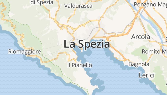 La Spezia online kaart