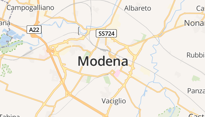 Modena online kaart