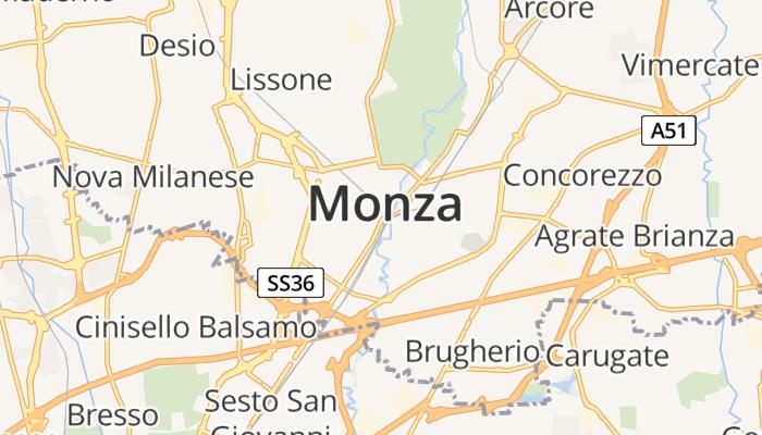 Monza online kaart