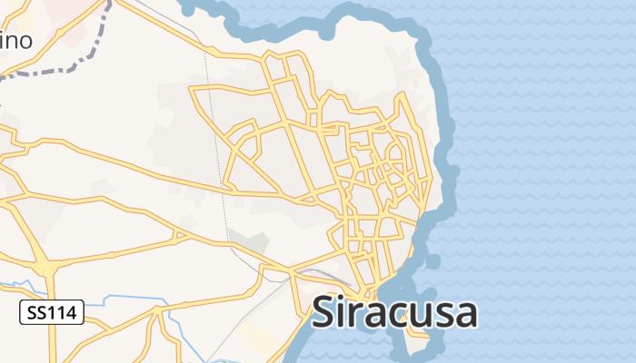 Syracuse online kaart
