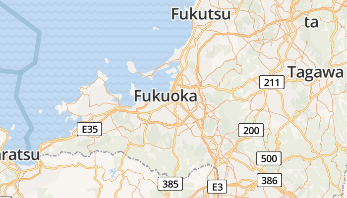 Fukuoka online kaart