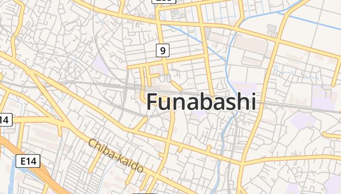 Funabashi online kaart