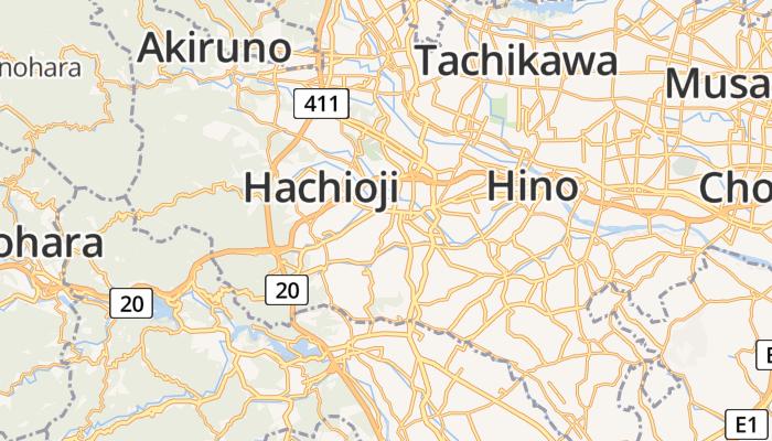 Hachioji online kaart