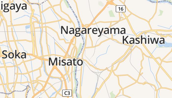 Nagareyama online kaart