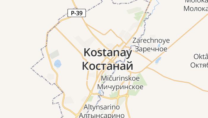 Qostanay online kaart