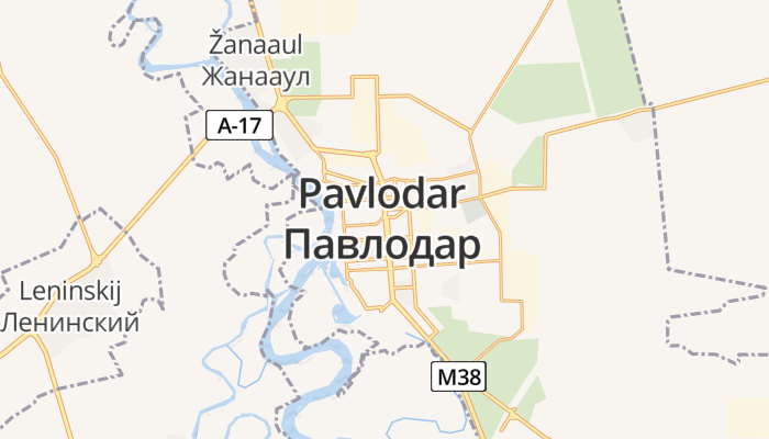 Pavlodar online kaart