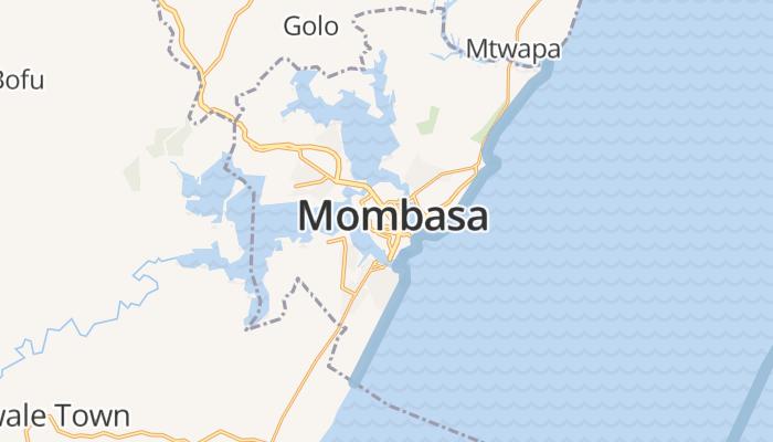 Mombassa online kaart