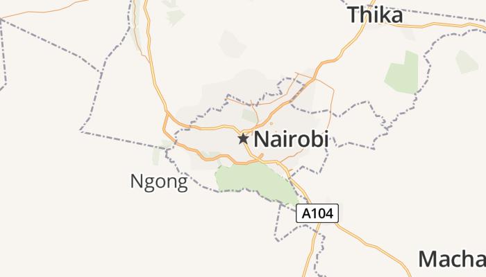 Nairobi online kaart