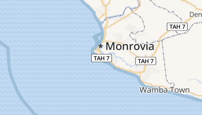 Monrovia online kaart