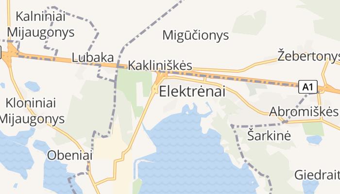 Elektrėnai online kaart