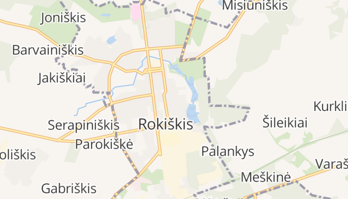 Rokiškis online kaart