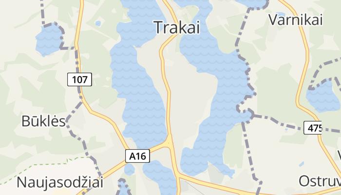 Trakai online kaart