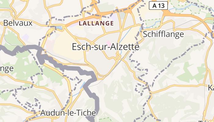 Esch-sur-Alzette online kaart