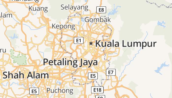 Kuala Lumpur online kaart