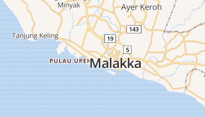 Malakka online kaart