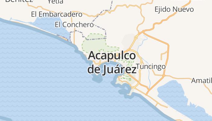 Acapulco de Juárez online kaart