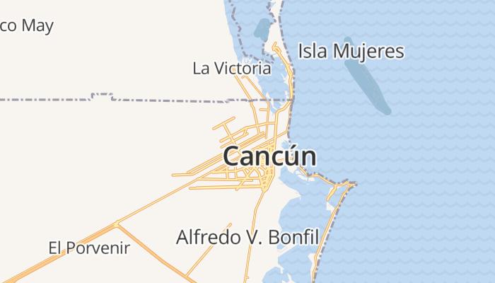 Cancun online kaart