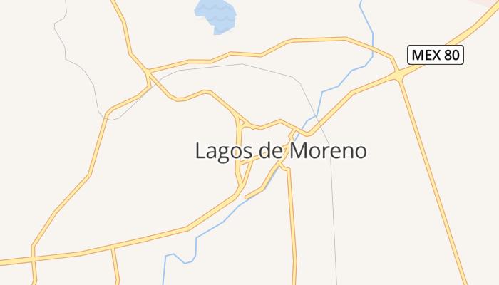 Lagos de Moreno online kaart