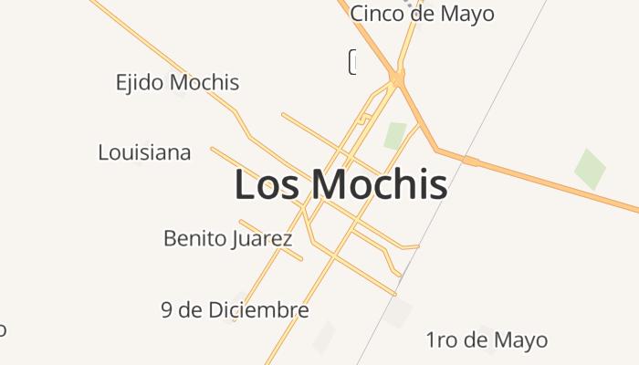 Los Mochis online kaart