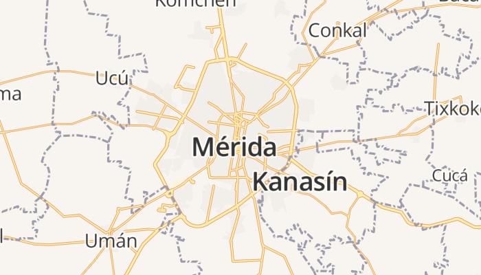 Mérida online kaart