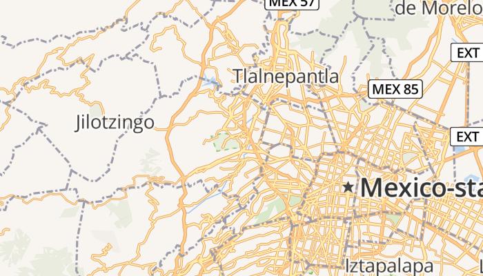 Naucalpan de Juárez online kaart