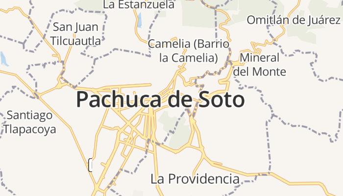 Pachuca de Soto online kaart