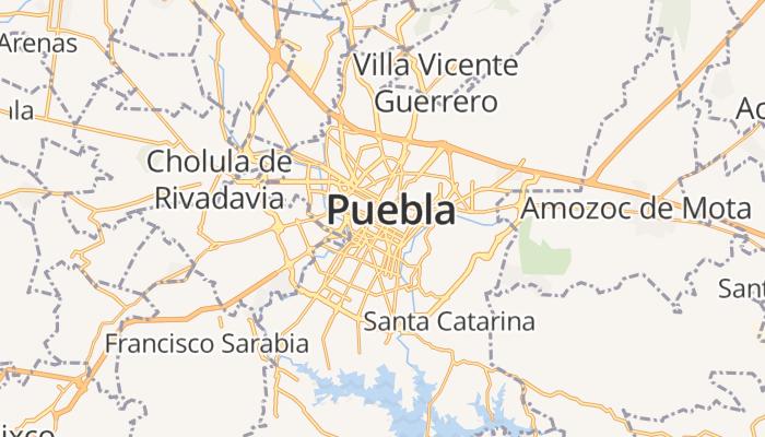 Puebla de Zaragoza online kaart