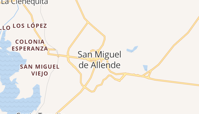 San Miguel de Allende online kaart