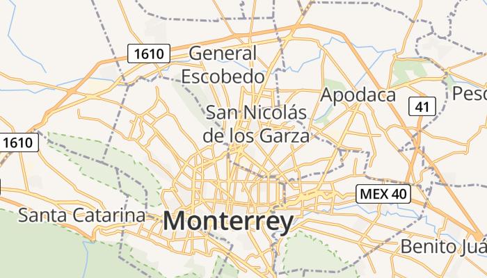 San Nicolás de los Garza online kaart
