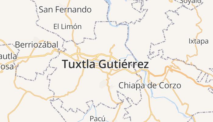 Tuxtla Gutiérrez online kaart