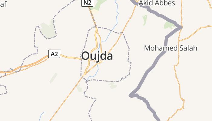 Oujda online kaart