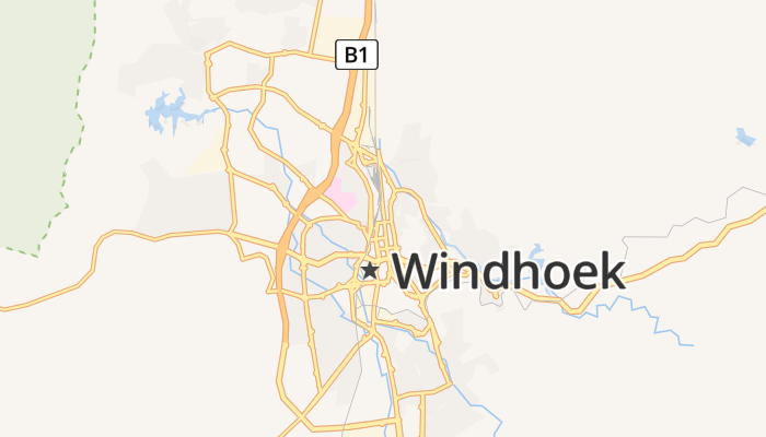 Windhoek online kaart