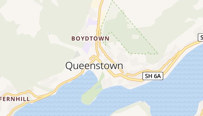 Queenstown online kaart