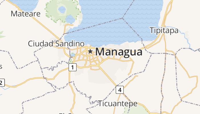 Managua online kaart