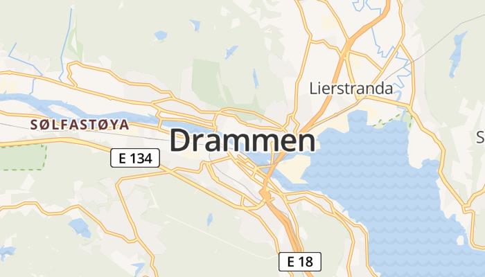 Drammen online kaart