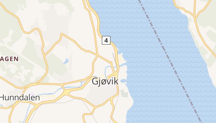 Gjøvik online kaart