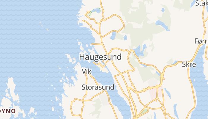 Haugesund online kaart