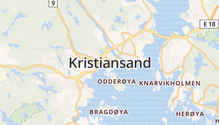Kristiansand online kaart