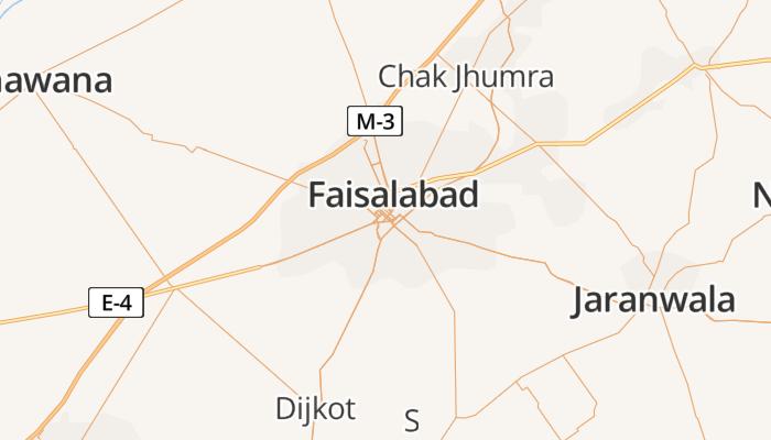 Faisalabad online kaart