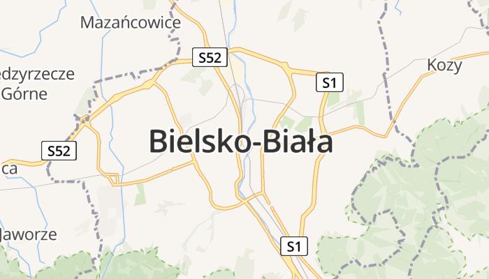 Bielsko-Biała online kaart