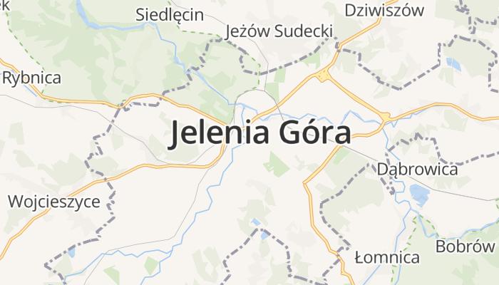 Jelenia Góra online kaart