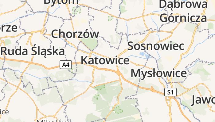 Katowice online kaart