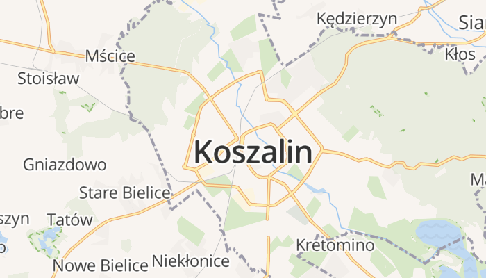 Koszalin online kaart