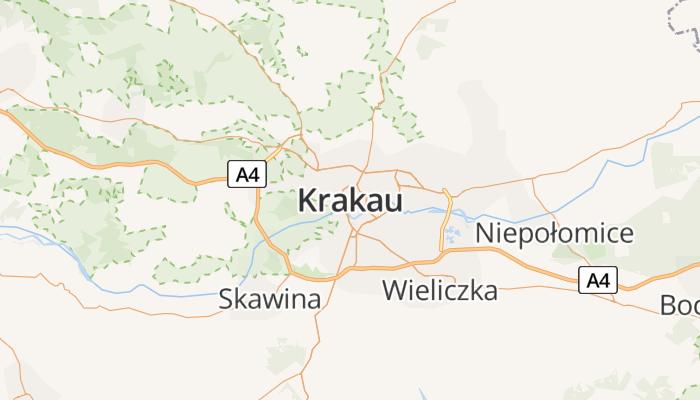 Krakau online kaart