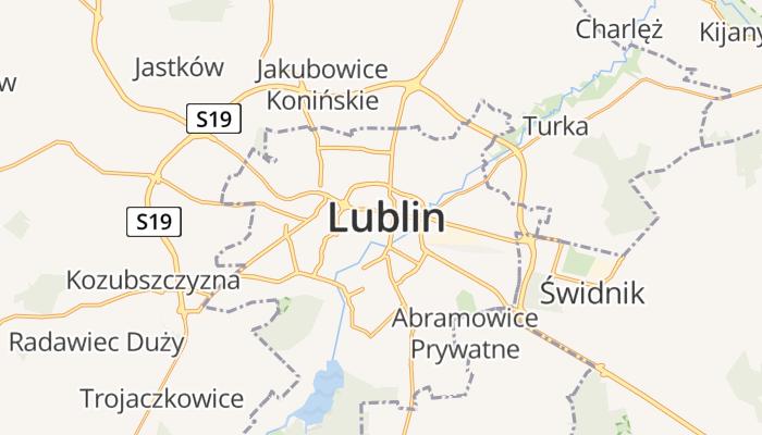 Lublin online kaart