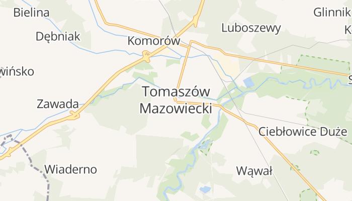 Tomaszów Mazowiecki online kaart