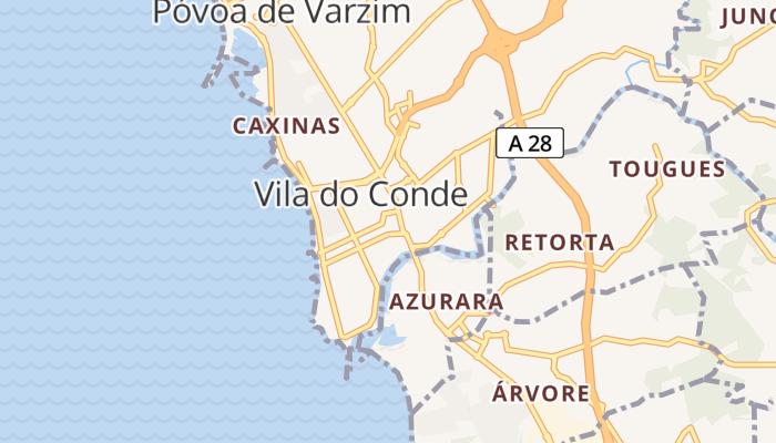 Vila do Conde online kaart