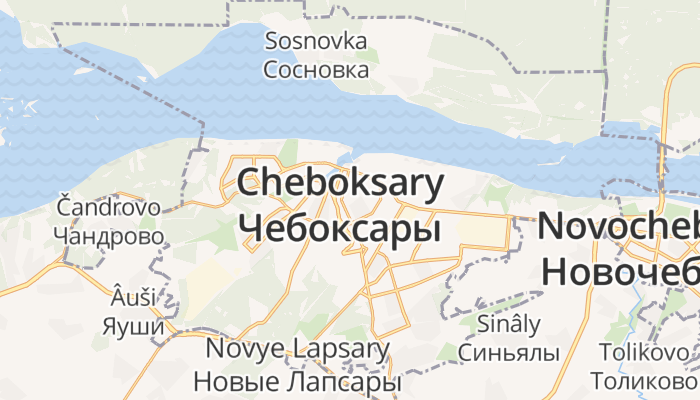 Tsjeboksary online kaart