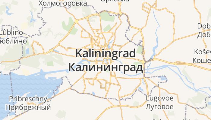 Kaliningrad online kaart