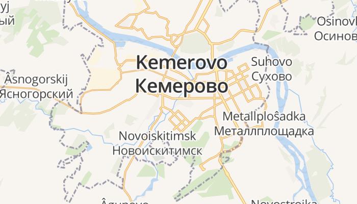 Kemerovo online kaart